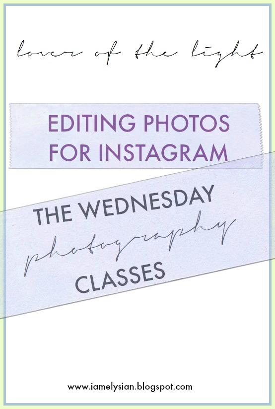 First in the series of 'Wednesday Photography Classes' to show you some tips and tricks on editing photos via VSCO cam